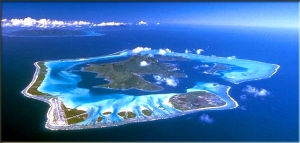 Snimak ostrva iz vazduha