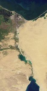 Satelitski snimak Suetskog kanala