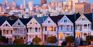 Fotografija kuća koje su u tipično američkom stilu gradnje